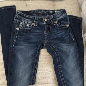 Miss Me Girls  Skinny Jeans size 23